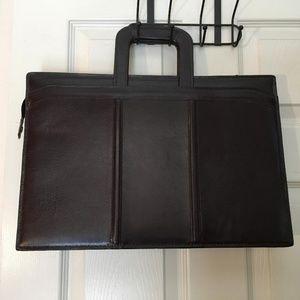 Heritage vintage leather portfolio briefcase